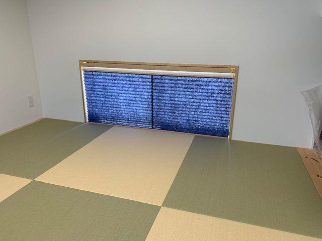 和室 プリーツスクリーン 不透明生地